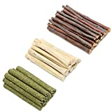200g Mix Apple Sticks Hamster Rabbit Pet Chew Toys 3 Types of Combined, Guinea Pig Chew Molar Sticks Toys, All Natural Apple Branch, Timothy Stick, Sweet Bamboo for Rabbits, Hamster, Chinchilla(200g)