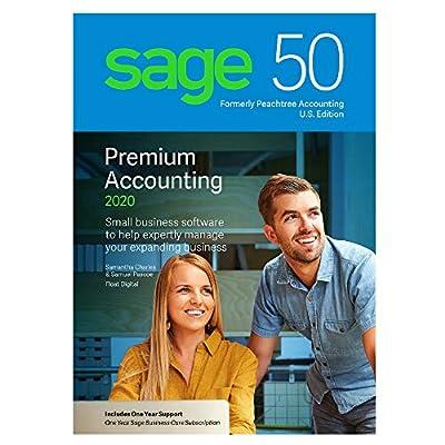 Sage Software Sage 50 Premium Accounting 2020 U.S. 3-User (3-Users)