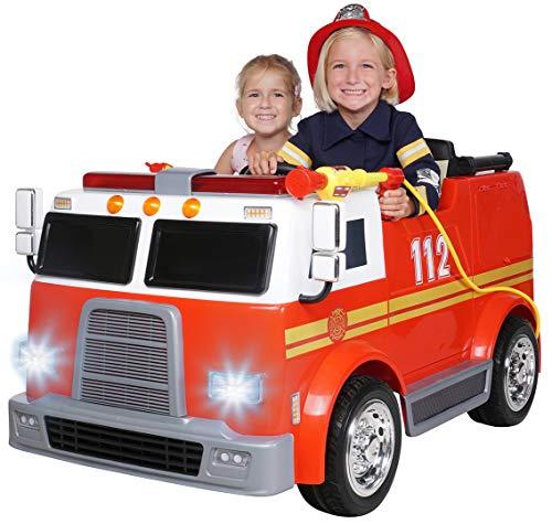 Actionbikes Motors Kinder Elektroauto Feuerwehr LL911 - 2 x 45 Watt Motor - Eva Vollgummireifen - Fernbedienung 2,4 GHz