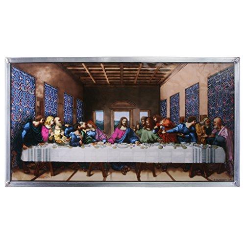 Buntglas-Panel - Da Vinci Das letzte Abendmahl Glasfenster Behang - Kunst-Glas-Fensterbehandlungen
