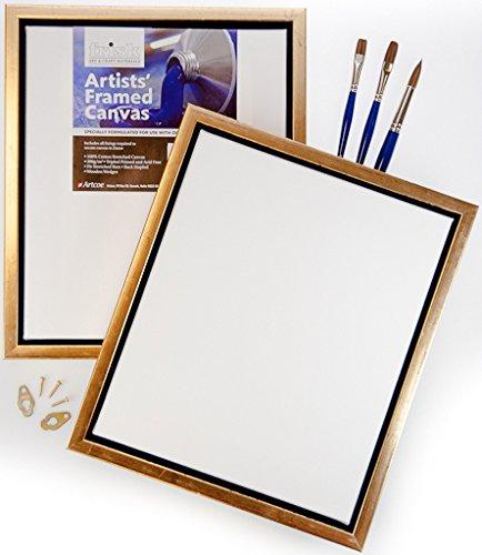 Frisk 24 x 46 cm Cadre Artistes et de Toile, Blanc