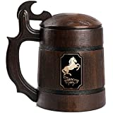 The Prancing Pony Wooden Beer Mug, Lord of the Rings Beer Stein, Custom Beer Stein, Gamer Gift, LOTR Tankard, Gift for Men, Gift for Him
