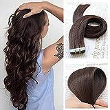 SHOWJARLLY Hair Remy Tape in Hair Extensions Human Hair 18 Inch Real Hair