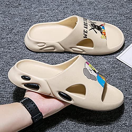 direction Zapatos de Piscina,Tendencia pisar la Playa es Genial, Hombres y Mujeres, Pantuflas-Beige 2_39#,Botas de Deportes acuáticos