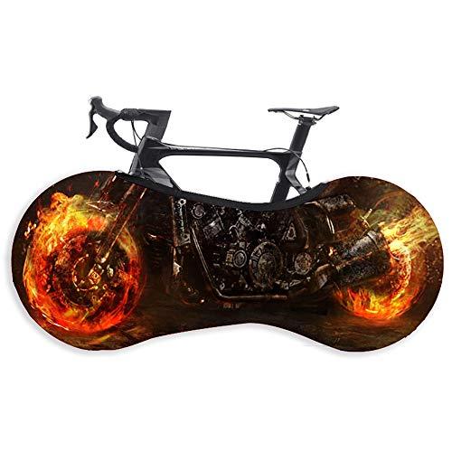 IWILCS Indoor Fahrradschutzhülle, Fahrrad Schutzhülle, Schutzausrüstung Garage, Hohe Elastische Reifenpaket, für Mountainbikes, Rennwagen, Falträder, Schwarz Rot