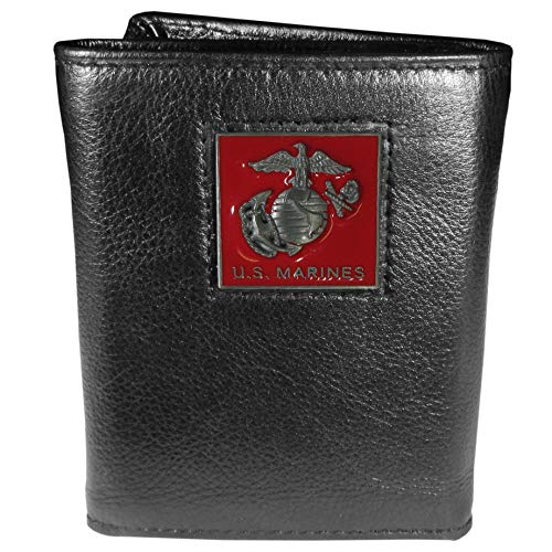 Marines Leather Tri-fold Wallet by Siskiyou
