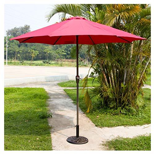 YDDZ Sombrillas de Jardín Sombrillas de Mesa de Jardín al Aire Libre Poliéster Impermeable y Resistente a Los Rayos UV Adecuado para Exteriores Playa y Mercado Sombrillas de Terraza de Plátano