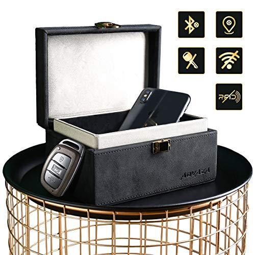 Aovaza Keyless Go Schutz Autoschlüssel Box, Auto Key Diebstahlschutz Faraday Box, RFID Signal Blocking Case für Car Keys, Große Auto Schlüssel Safe Aufbewahrungsbox (Schwarz)