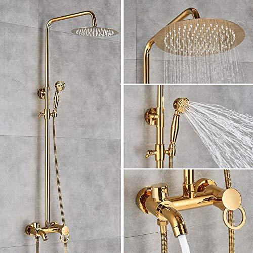 Miscelatore per doccia Colonna doccia Doccetta a mano Doccia a pioggia Set doccia Vasca Sistema doccia Oro