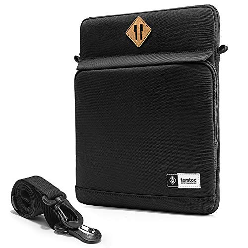 tomtoc 10.5-11 inch Tablet Sleeve Shoulder Bag for 11' iPad Pro 2020, 10.2' New iPad 2019, 10.5' 2019 iPad Air Retina, 10.5' iPad Pro, Samsung Galaxy Tab, Fit Pencil & Smart Keyboard, Black
