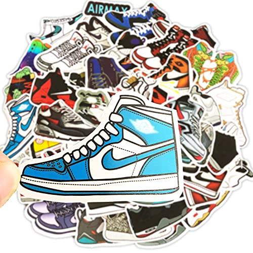 Pegatinas 50PCS, Zapatillas De Marca Trendy Sticker PVC para Coche, Bicicleta, Moto, Equipaje, Portátil, Dormitorio, Funda De Viaje, Impermeable