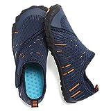 CIOR Boys & Girls Water Shoes Quick Drying Sports Aqua Athletic Sneakers Lightweight Sport Shoes(Toddler/Little Kid/Big Kid) U1ELJSX011-Navy.orange-34