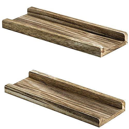 DGDF Estante flotante de madera maciza, estante rústico montado en la pared, estantes creativos en forma de U para sala de estar, oficina, dormitorio, baño, cocina