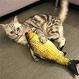 hainanaishun 8 Styles kreatives 3D Fisch Form Katze lustiges Spielzeug Simulation Plüsch Fisch Haustier Katzenminze Fisch Kissen, Plüsch, H08, Einheitsgröße