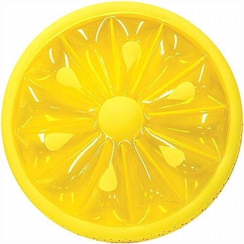 Klerokoh Aufblasbare Runde Schwimmende Reihe Der Zitrone, überGröße Orange des Sich Hin- Und Herbewegenden Inselbergschwimmrings