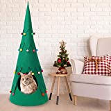 evergreemi Pet Teepee Pet Tent House For Dogs Puppy Cats Christmas Tree Cat Dog Nest Dog(Puppy) & Cat Bed Christmas Home Decor - 88×35cm/34.65×13.78in