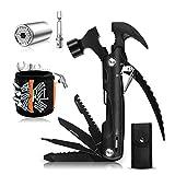 YUEWXTER Kit de supervivencia 50 en 1, regalo para hombres, con martillo multifunción, navaja, destornillador, llave, alicates combinados, llave de vaso universal, pulsera magnética