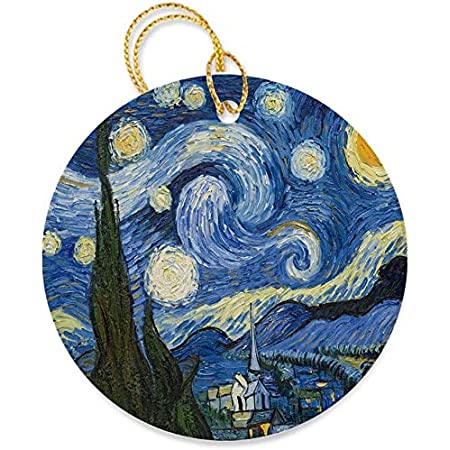 Vincent Van Gogh Starry Night Porcelain Ornament by Kurt Adler /& Museum Masters