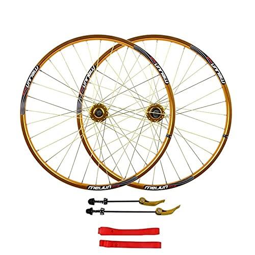 UPPVTE 26 Pulgadas MTB Ruedas de Ciclismo Mountain Bike Wheelset, 32H Alloy Double Wall Rim Disc Freno Lanzamiento rápido Compatible 7 8 9 10 Velocidad Bicicleta Ciclismo