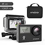 Andoer 4K WiFi Action Camera 2.31-inch Full HD LCD Touchscreen with 20MP Novatek 96660 Chipset Suppport Gyroscope Anti-Shake 5X Zoom, 170 Wide-Angle Lens and Waterproof 30m Hard Case (AN4000)