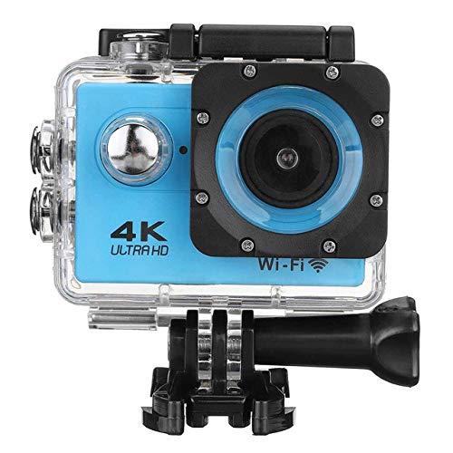 DJG Tätigkeits-Kamera-4K Mit Romote Kontrolle Ultra HD 30Fps WiFi 2.0 170D Wasser wasserdichte Sturzhelm-Videoaufnahmekamera Sport Cam,Blau