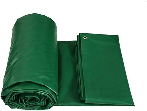 Hyxpb Imperméable à l'eau en Tissu épaississement Pluie Couverture Camion bache Prougeection Solaire Parasol extérieur crêpe Vert