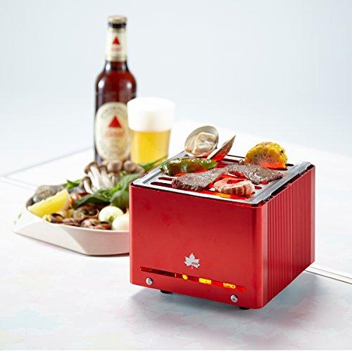 ロゴス(LOGOS)バーベキューコンログリルキューブ[1~2人用]串焼き・調理も可能