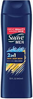 Suave Men 2-in-1 Hair and Body Wash, 15 Ounces (2 Packs)