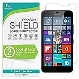 (2-Pack) RinoGear Microsoft Lumia 640 XL Screen Protector Case Friendly Screen Protector for Microsoft Lumia 640 XL Accessory Full Coverage Clear Film