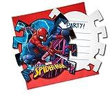 12-teiliges * SPIDER-MAN * Einladungskarten-Set für Kindergeburtstag und Motto-Party | bestehend...