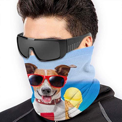 LONGYUU Netter Hund Essen Kaltes EIS Sun Bum Gesichtsmaske Jugend Gesichtsmaske Bandana Laufen Headwear Männer Multifunktions Für Winter Kaltes Wetter Warmhalten Für Herren Frauen