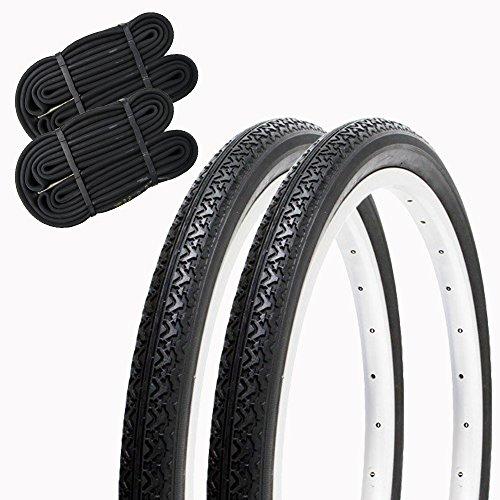SHINKO(シンコー) 自転車 タイヤ 20インチ チューブ セット ペア巻き SR133 20×1.75 HE (ブラック/ブラ...