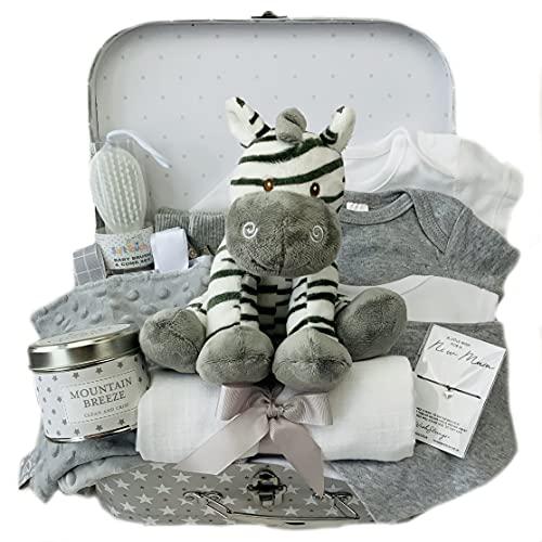 Zebra Baby Gift Set - Cesta unisex para regalo de bebé
