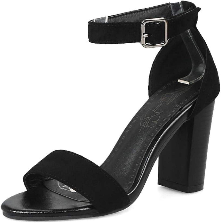 Big Size Women Sandals Flock High Heels