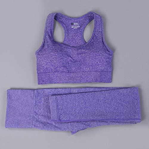 Pantalon Yoga Sin Costuras Conjunto De Yoga Sin Costuras Para Mujer, Trajes Deportivos Para Gimnasia, Tela De Yoga, Camisas De Manga Larga, Mallas Para Correr De Cintura Alta, Pantalones De Entre