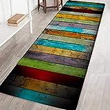 Wingbind Tapis Non-Slip Grande Porte Vintage Chic Patterned Carpet Tapis de Sol Tapis d'escalier pour Salon Chambre Cuisine Hall d'entrée, 2x6ft