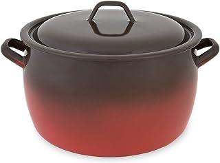 Menax - Olla de Cocina con Tapa - Modelo Fuego - Acero Vitrificado - 5 Litros