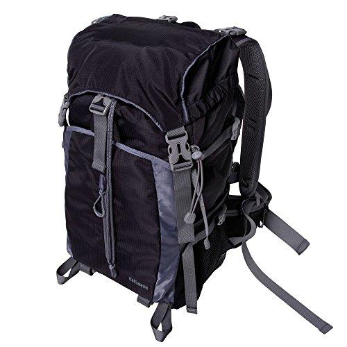 Dörr 464010 Fotorucksack Combi Pack 3-in-1 passend für 1 System oder SLR Kamera, 2 Objektive und 1 Systemblitzgerät schwarz/grau