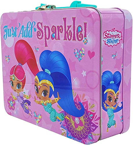 Shimmer and Shine Coloring and Activity Tin Box, Includes Sketch Pad, Markers, Stickers. Tin Activity Set for Girls Toddlers and Kids