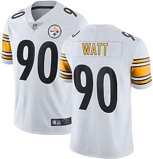 メンズTシャツフットボールジャージースティーラーズ#90ワットスポーツジャージーショートスリーブスポーツトップTシャツ、ラグビーユニフォー
