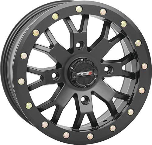System 3 Off-Road SB-4 Beadlock UTV Wheels - Matte Black / 15x7 4/156 6+1
