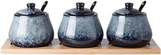 WZHZJ Coffrets à assaisonnement avec cuillère à Assiettes et Plateaux en céramique (Color : B)