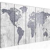 decoración de la mesa del mapa del mundo mural - 200 x 80 cm Vista de impresión en lienzo Salón Apartamento - listo para colgar - 104355c