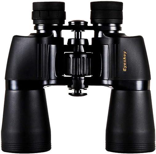 LLG-SMWYJ Jumelles Professionnelles compactes 10x50 pour l'observation des Oiseaux, télescopes étanches et résistants aux Chocs, adaptées aux Excursions touristiques en Plein air