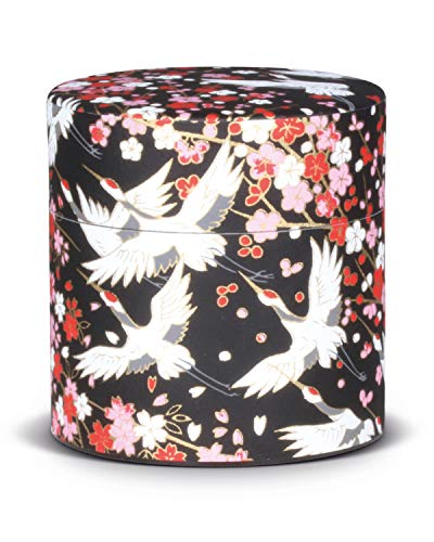 Colador para matcha (Furui) con papel washi de Japon, colador de acero inoxidable integrado para te matcha perfecto sin grumos, lata para guardar te matcha