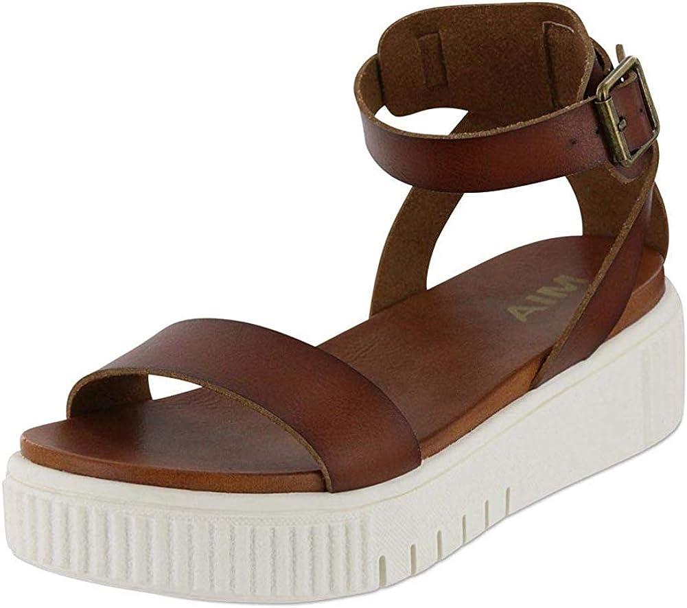 MIA Womens Lunna Open Toe Casual Ankle Strap Sandals