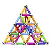 Lapoea 101 Pieces Magnetic Building Sticks Building Blocks Set, Magnet Educational Toys for Adults and Children 3D Magnetic Blocks Sticks Stacking Toys Set