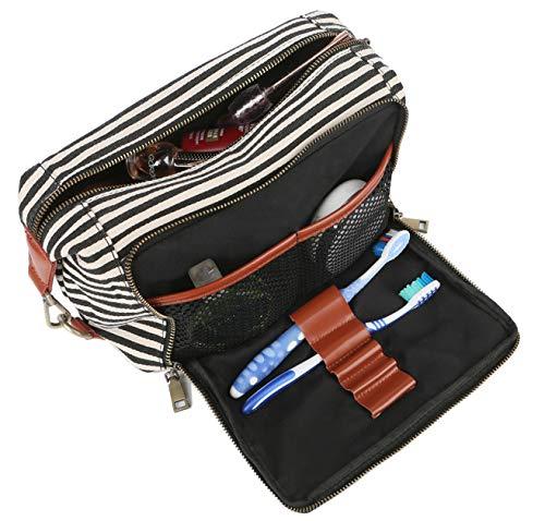 BAOSHA Toiletbag Multicase Kulturtasche Kosmetikkoffer Schminktasche Reisekosmetiktasche Waschbeutel XS-04 (Schwarze Streifen)