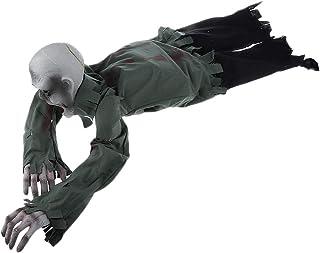 恐ろしいハロウィーン 禿げたゾンビアニメーション 幽霊の家 パーティー装飾小道具 怖