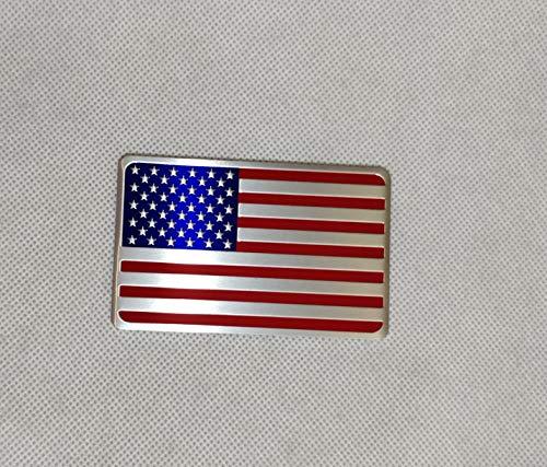 Generic Car Racing Sports US USA American Flag Oblong Emblem Badge Decal Sticker